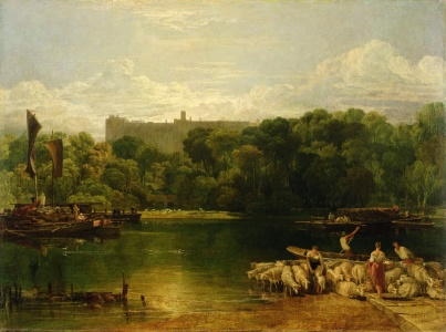 Picture no: 31001273 Windsor Castle from the Thames, c.1805 Created by: Turner, Joseph Mallord William