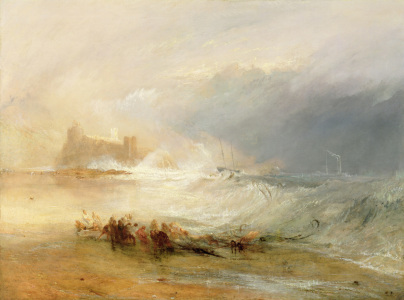 Picture no: 31001309 Wreckers - Coast of Northumberland, With a Steam Boat Assisting a Ship off Shore Created by: Turner, Joseph Mallord William