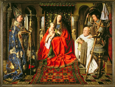 Picture no: 31001318 Madonna and Child with Canon Joris van der Paele, 1436 Created by: van Eyck, Hubert & Jan