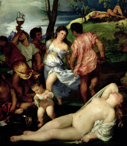 Picture no: 31001393 The Andrians, c.1523-4 Created by: Vecellio, Tiziano