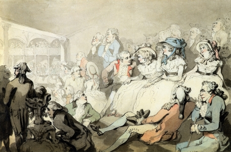 Picture no: 31001482 An Audience Watching a Play, c.1785 Created by: Rowlandson, Thomas