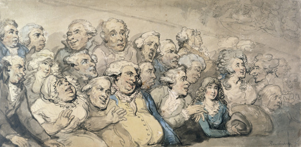 Picture no: 31001498 An Audience at Drury Lane Theatre Created by: Rowlandson, Thomas