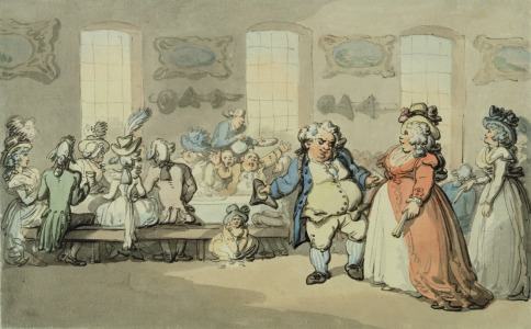Picture no: 31001500 The Breakfast, from 'Scenes at Bath' Created by: Rowlandson, Thomas