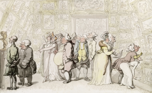 Picture no: 31001505 Viewing at the Royal Academy, c.1815 Created by: Rowlandson, Thomas