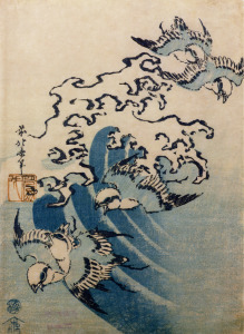 Picture no: 31001544 Waves and Birds, c.1825 Created by: Hokusai, Katsushika