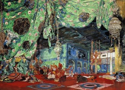 Picture no: 31001548 Set design for 'Scheherazade' by Rimsky-Korsakov 1916 Created by: Bakst, Leon