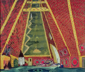 Picture no: 31001552 Set Design for 'Thamar', 1912 Created by: Bakst, Leon