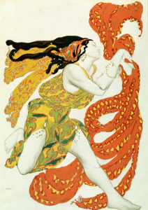 Picture no: 31001553 Costume design for a bacchante in 'Narcisse' by Tcherepnin, 1911 Created by: Bakst, Leon