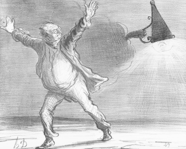 Picture no: 31001621 Series 'Actualites', the comet, Monsieur Babinet decides to personally shut down Created by: Daumier, Honore