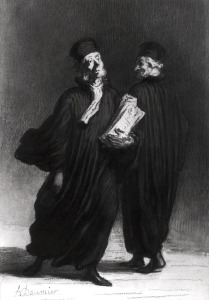 Picture no: 31001626 Two Lawyers, c.1862 Created by: Daumier, Honore