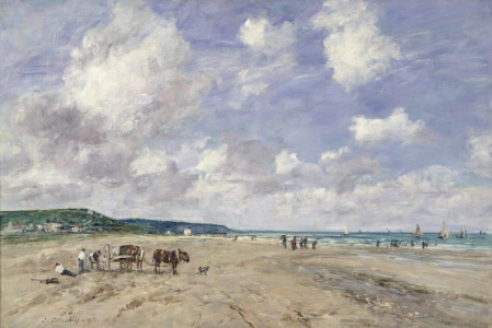 Picture no: 31001696 The Beach at Tourgeville, 1893 Created by: Boudin, Eugene Louis