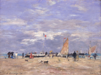 Picture no: 31001698 The Jetty at Deauville, 1869 Created by: Boudin, Eugene Louis