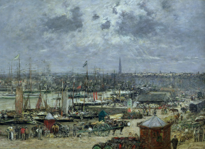 Picture no: 31001699 The Port of Bordeaux, 1874 Created by: Boudin, Eugene Louis