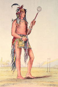 Picture no: 31001705 Sioux ball player Ah-No-Je-Nange, 'He who stands on both sides' Created by: Catlin, George