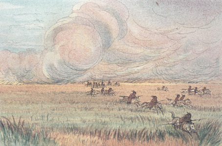 Picture no: 31001716 Missouri prairie fire Created by: Catlin, George