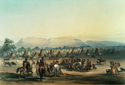 Picture no: 31001717 Camp of Piekann Indians Created by: Catlin, George