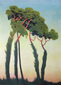 Picture no: 31001736 Landscape with Trees, 1911 Created by: Vallotton, Felix Edouard