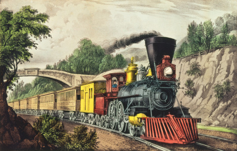 Picture no: 31001838 The Express Train, published by Nathaniel Currier and James Merritt Ives Created by: Anonyme Künstler