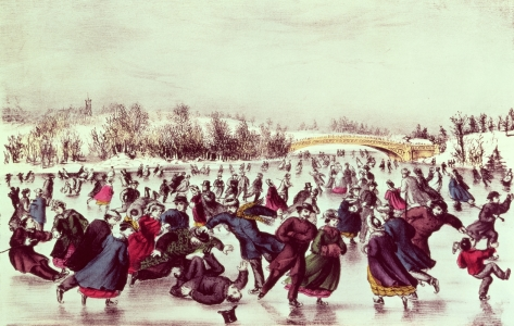 Picture no: 31001847 Central Park, Winter: The Skating Carnival Created by: Anonyme Künstler