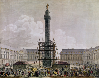 Picture no: 31001939 Construction of the Vendome Column in 1803-10 Created by: Anonyme Künstler