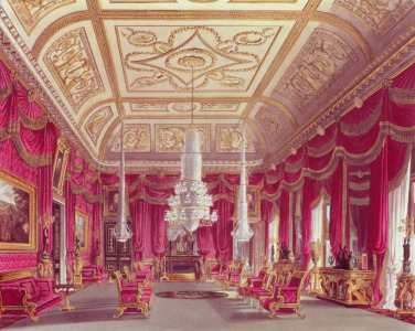 Picture no: 31002058 The Crimson Drawing Room, Carlton House from Pyne's 'Royal Residences', 1818 Created by: Pyne, William Henry