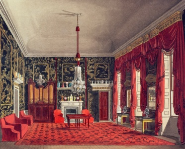 Picture no: 31002059 The Queen's Breakfast Room, Buckingham House, engraved by Daniel Havell from 'Th Created by: Pyne, William Henry