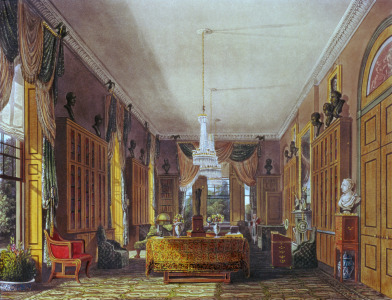 Picture no: 31002060 The Queen's Library, Frogmore, Pyne's 'Royal Residences', 1818 Created by: Pyne, William Henry