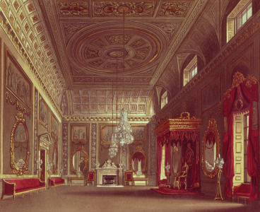Picture no: 31002061 The Saloon, Buckingham Palace from Pyne's 'Royal Residences', 1818 Created by: Pyne, William Henry