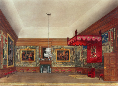 Picture no: 31002062 The Throne Room, Hampton Court from Pyne's 'Royal Residences', 1818 Created by: Pyne, William Henry