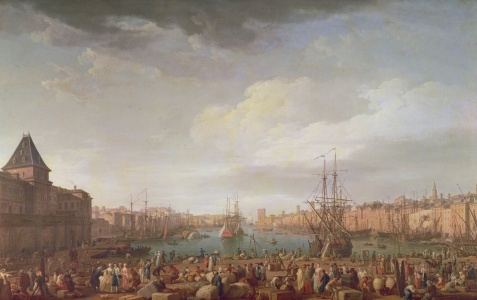 Picture no: 31002250 Morning View of the Inner Port of Marseille and the Pavilion of the Horloge du P Created by: Vernet, Claude Joseph