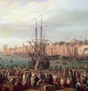 Picture no: 31002251 Morning View of the Inner Port of Marseille and the Pavilion of the Horloge du P Created by: Vernet, Claude Joseph