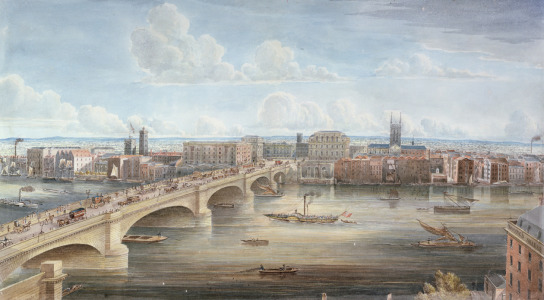 Picture no: 31002288 Another View of New London Bridge, showing the West Front, looking towards South Created by: Yates, Gideon
