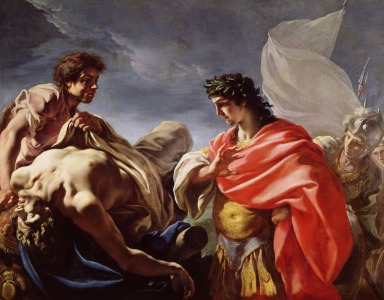 Picture no: 31002301 Achilles Contemplating the Body of Patroclus Created by: Pellegrini, Giovanni Antonio