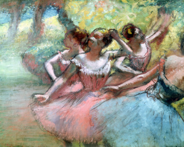 Picture no: 31002396 Four ballerinas on the stage Created by: Degas, Edgar