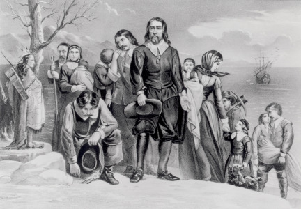Picture no: 31002447 The Landing of the Pilgrims at Plymouth, Mass. Dec. 22nd, 1620, pub. 1876 Created by: Currier, Nathaniel and Ives, J.M.