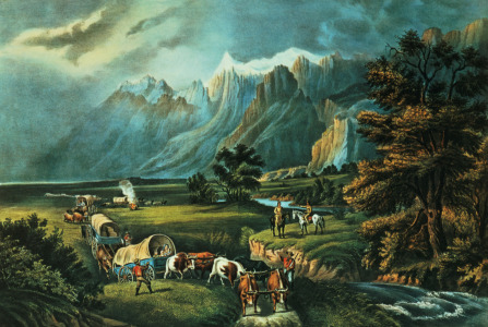 Picture no: 31002450 The Rocky Mountains: Emigrants Crossing the Plains, 1866 Created by: Currier, Nathaniel and Ives, J.M.
