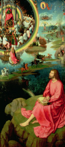 Picture no: 31002502 St. John the Evangelist at Patmos, from the Mystic Marriage of St. Catherine Tri Created by: Memling, Hans