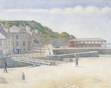 Picture no: 31002513 The Harbour and the Quays at Port-en-Bessin, 1888 Created by: Seurat, Georges Pierre