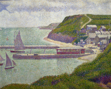 Picture no: 31002515 Harbour at Port-en-Bessin at High Tide, 1888 Created by: Seurat, Georges Pierre