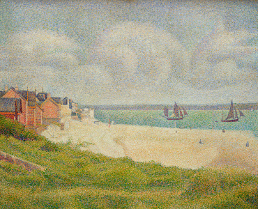 Picture no: 31002517 Le Crotoy looking Upstream, 1889 Created by: Seurat, Georges Pierre