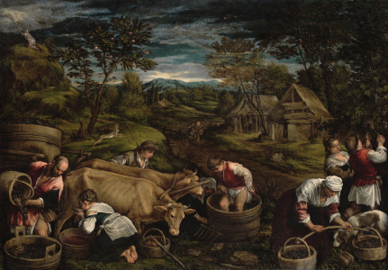 Picture no: 31002556 Harvest, , 1576 Created by: Bassano, Jacopo (Jacopo da Ponte)