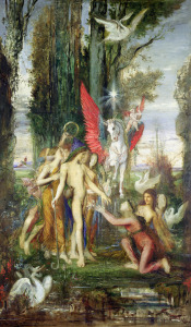 Picture no: 31002576 Hesiod and the Muses Created by: Moreau, Gustave