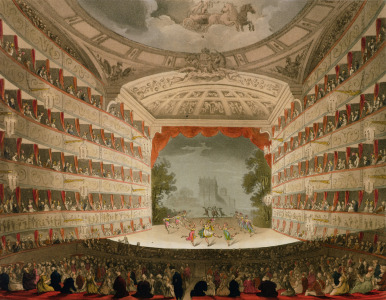 Picture no: 31002640 Kings Theatre Opera House, engraved by J. Bluck, pub. by Ackermann's 'Repository Created by: Rowlandson, Thomas