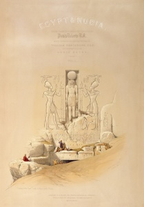 Picture no: 31002791 The Entrance to the Great Temple of Aboo Simble, Nubia, titlepage of Volume I of Created by: Roberts, David