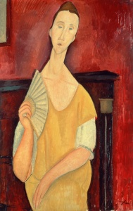Picture no: 31002815 Woman with a Fan 1919 Created by: Modigliani, Amedeo