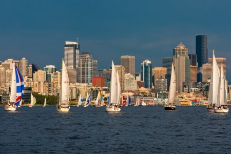 Picture no: 10971526 Seattle Skyline Sailing Regatta Created by: TomKli