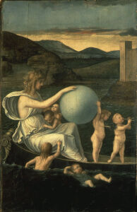 Picture no: 30001382 G.Bellini, Fortuna-Melancholia /painting Created by: Bellini, Giovanni