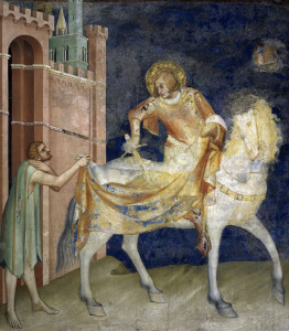 Picture no: 30002432 Simone Martini / Martin dividing cloak Created by: Martini, Simone