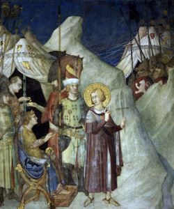 Picture no: 30002434 Simone Martini / St. Martin renounces... Created by: Martini, Simone