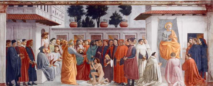 Picture no: 30002464 Masaccio / Resurection of Theophilus Created by: Masaccio (Tommaso di Giovanni di Simone Guidi)